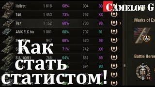 Как стать статистом в World of Tanks WOT (ВОТ). Как поднять процент побед выше 60%. Секреты WOT.