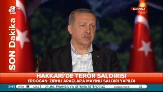 recep tayyip erdoğan özel | 6 Eylül 2015 | A haber & ATV ortak yayını