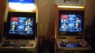 Sega Naomi Heavy Metal Geomatrix linked cabinets attract mode.