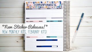 * New Sticker Releases! * Budget & Monthly Calendar Kits