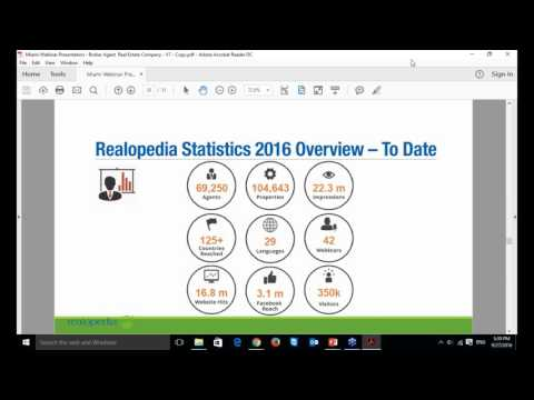 Realopedia Webinar for Broker/ Agent & Real Estate Company