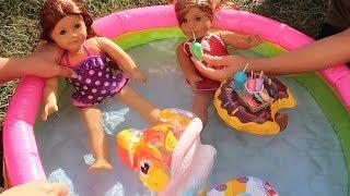 Oyuncak bebekler ve LOL Doll Havuz Partisi !! şişme havuz Pool Party Water play Swim Bidünya Oyuncak