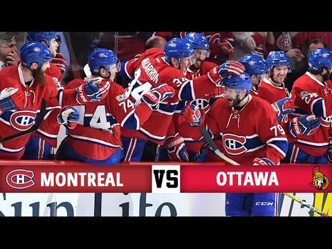 Montreal Canadiens vs Ottawa Senators   Season Game 75   Highlights (25/3/2017)
