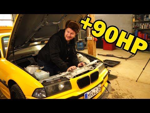 BMW e36 Coupe   von 316i zum 325i   Motor Swap