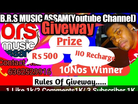 Giveway Ll B.R.S Music Assam Ll