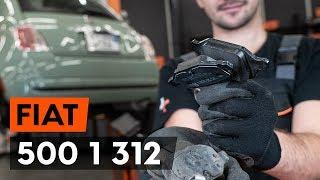Montavimo priekyje ir gale Stabdžių Kaladėlės FIAT 500: vaizdo pamokomis