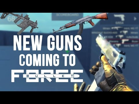 Bullet Force: Testing Out DEAGLE, AK-47 And Kriss Vector Coming In Updates [TRICKSHOTS]
