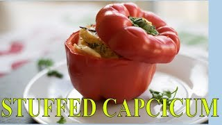 Stuffed Capsicum - Easy To Make Homemade Starter / Party Appetizer Recipe