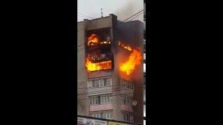 Пожар в Уссурийске по ул Ленина! 08.04.16