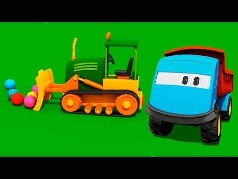 Мультик конструктор Грузовичок Лева и Бульдозер, развивающие мультики про машинки для детей от 2 лет