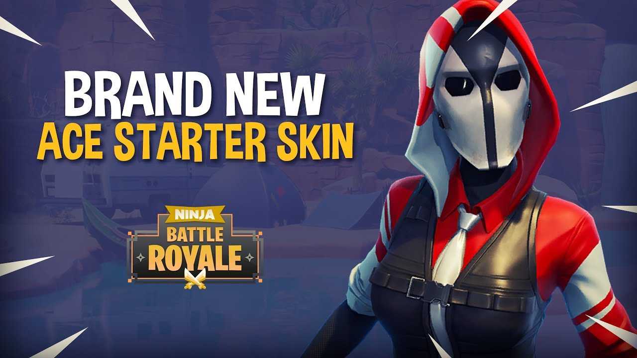 Brand New Ace Starter Skin Fortnite Battle Royale Gameplay