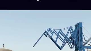 Exciting revolution in world technology.Temporary bridge design.