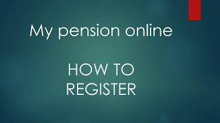Lothian Pension Fund - Register for My Pension Online