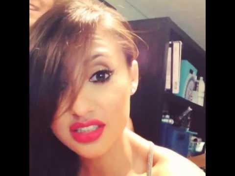 Francia Raisa Getting My Hair Done By @madeupbyalyson For Teen Choice Awards