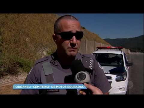 Obra abandonada do Rodoanel vira local de desova de carros e motos roubadas