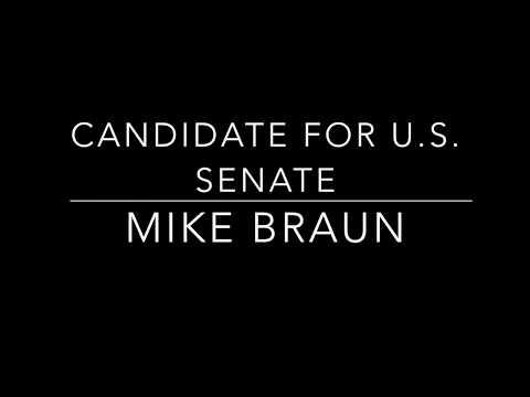 U S  Senate candidate Mike Braun speaks to Clay Co  Republican Club