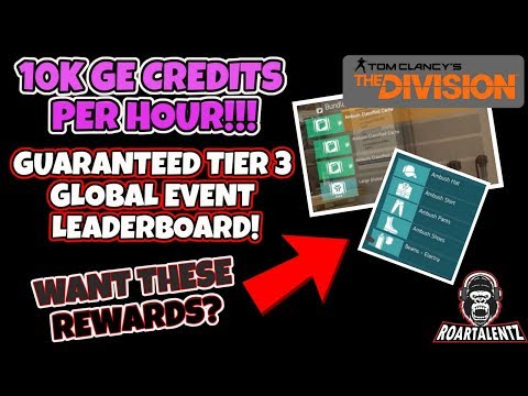 The Division - Easiest guide to get into the Tier 3 Global Event leaderboards