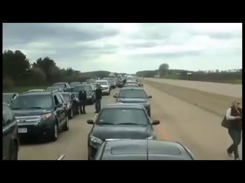 """""""Wisconsin Dells Stand-Off"""" by Jim Livorsi [Eastbound Interstate I-90/94] 5/1/2016"""