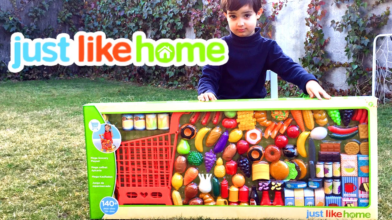 Just Like Home Toy Food : Just like home mega grocery playset supermarket game juego