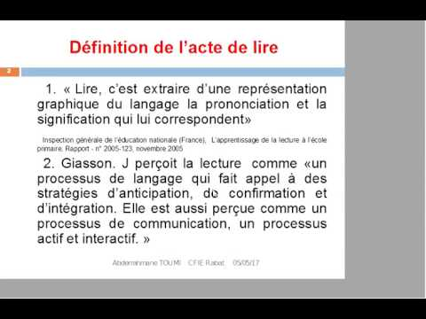 la didactique pédagogique d'une leçon de lecture .présenté par M.TOUMI