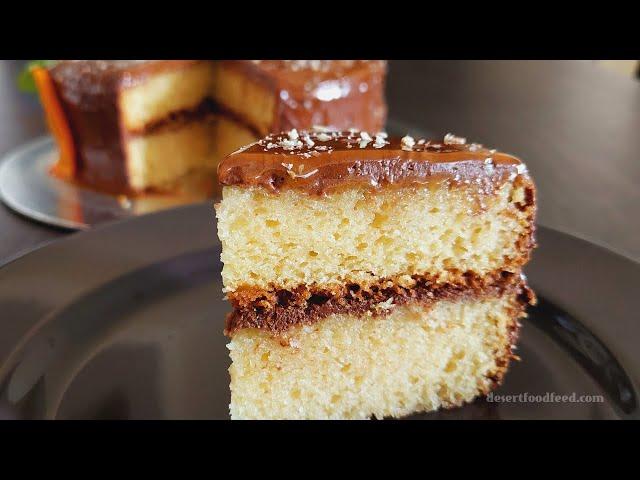 Orange Fudge Cream Cake with Orange Ganache   A Simple & Delicious Birthday Cake   Desert Food Feed