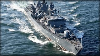 RUSSIAN WARSHIP REFUSES TO BACK DOWN TO US NAVY SHIP