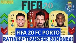 FIFA 20   FC PORTO PLAYER RATINGS!! FT. BUFFON, PEPE, MAREGA ETC... (TRANSFER RUMOURS INCLUDED)