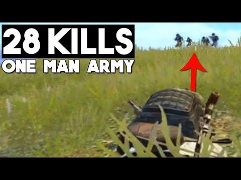 FULL SQUAD VS ME! | 28 KILLS SOLO vs Squad | PUBG Mobile