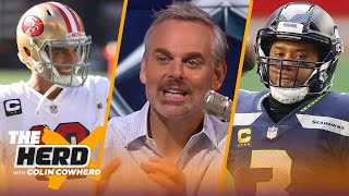 'Pete has no interest in Russ' thoughts'; talks Jimmy G, 49ers & Patriots — Colin | NFL | THE HERD