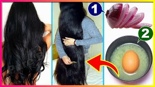 HOW TO GROW LONG AND THICKEN HAIR FASTER WITH ONION & EGG | Magical Hair Growth Treatment 100% Works