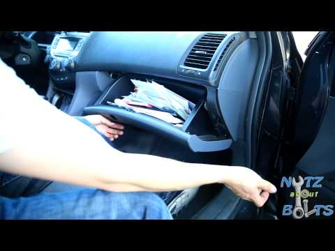 2003-2007 Honda Accord Cabin air filter replacement