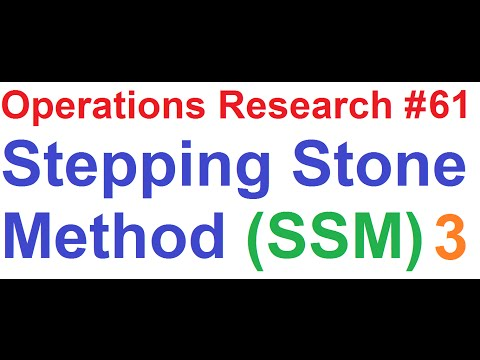 Operations Research Tutorial #61: Stepping Stone Method Solving 5x5 Transportation Problem [3of5]