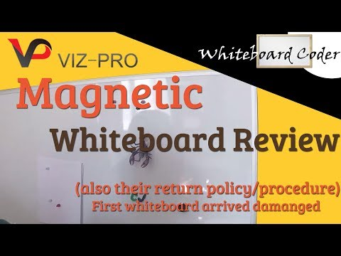 Vizpro Magnetic Whiteboard review (and return policy)