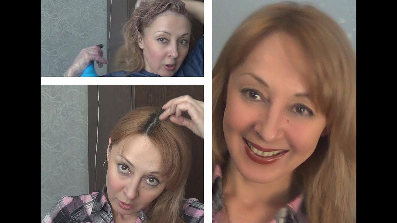 окрашивание концов волос в светлый цвет