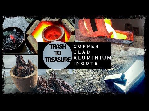 Trash To Treasure - Copper Clad Aluminium Ingots Made From Scrap