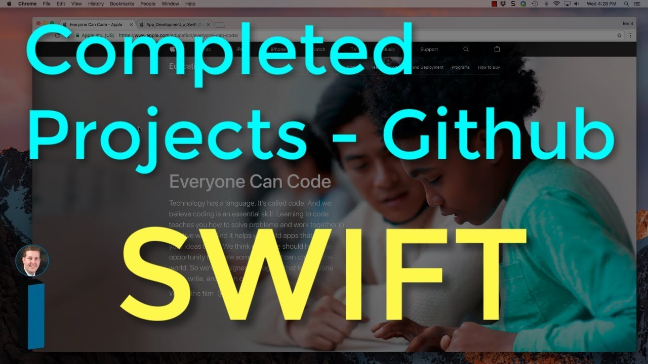 Project source code on Github - Intro to App Development with Swift