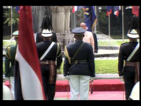 Arrival Honor for Thai Prime Minister Prayut Chan-o-cha 8/28/2015