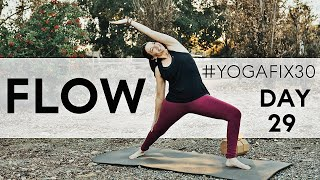 Vinyasa Flow with Hip Openers, Twists and Arm Balances Day 29 With Fightmaster Yoga