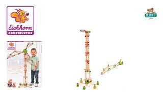 Fa építőjáték szélmalom Constructor Windmill Eichh