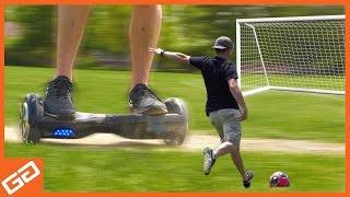 Dizzy Hoverboard Free Kick Challenge - Geekify Guys