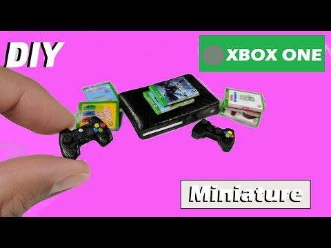 DIY Miniature Xbox One  - Video Game Console - How to Make