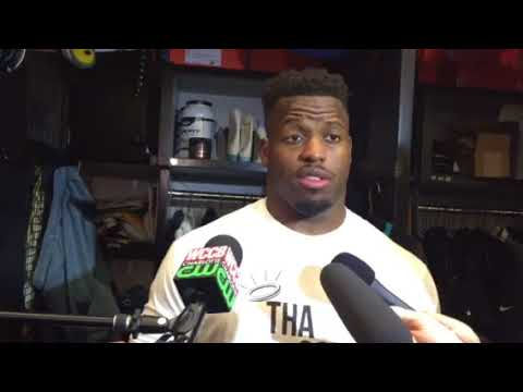 Jonathan Stewart after the Panthers' 31-24 win over the Vikings