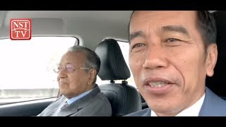 Jokowi recounts his experience of being chauffeured by Dr Mahathir