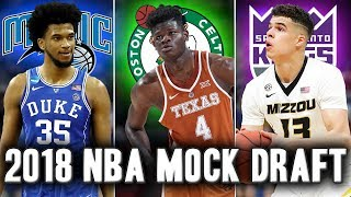 Official 2018 NBA Mock Draft A Crazy Draft Night Trade