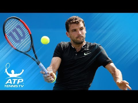 Brilliant Grigor Dimitrov shots in win vs Benneteau | Queen's 2017 Highlights