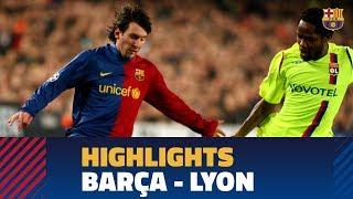 BARÇA 5-2 LYON | Match highlights (2008/2009)