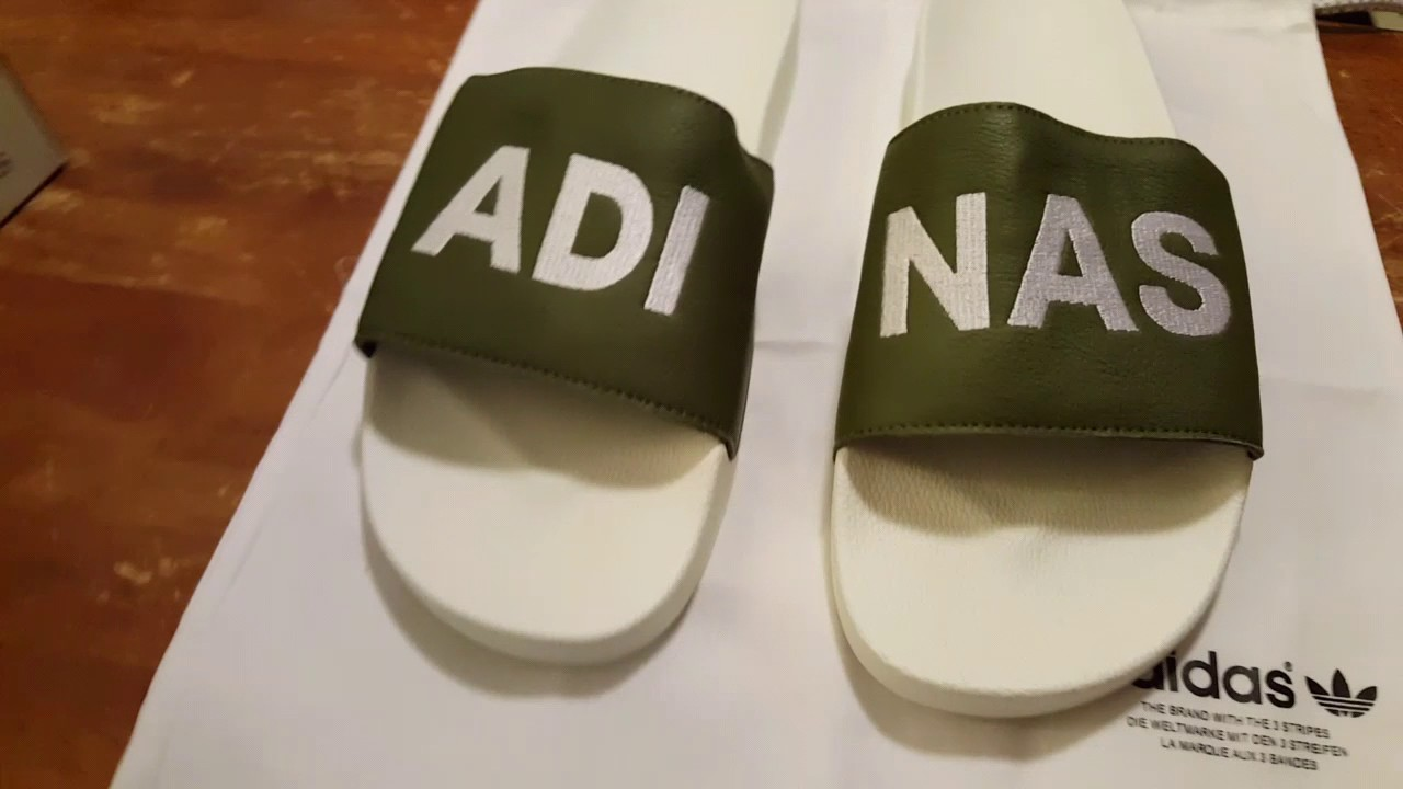 34566f1acc28 Custom mi Adilette Adidas Slides (Review and on foot) - YouTube