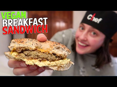 THE BEST VEGAN BREAKFAST SANDWICH!