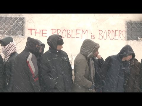 Migrants in Belgrade Struggle in Freezing Weather