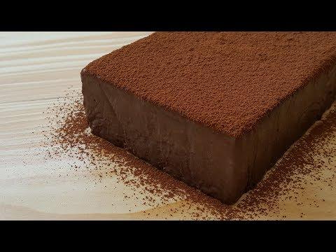 Chocolate Mousse Cake With Homemade Cream & No Bake Cake